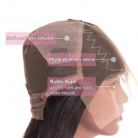 130 Densit Pr Pinces Pleine Dentelle de Cheveux Humains Perruques Avec Cheveux de bb Sans Colle