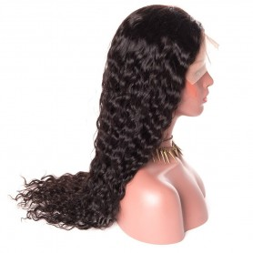 Lace front wig 100% human hair natural wave avec baby hair