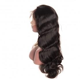 frontal Lace wig 13X4 100% cheveux brésilien Remy body wave avec baby hair densité 180