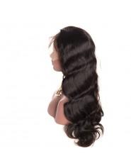 frontal Lace wig 100% cheveux brésilien Remy body wave avec baby hair densité 180