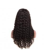 frontal Lace wig 100% cheveux brésilien Remy Jerry Curl avec baby hair densité 180