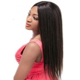 Perruque lisse 100% human hair 4x4 closure densité 180