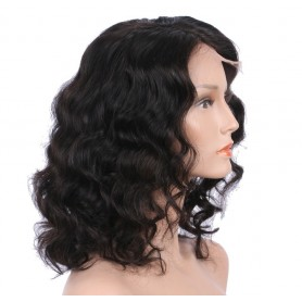 Lace front wig 100% human hair Deep wave avec baby hair Non