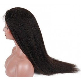 Frontal Lace Wig Human Hair kinky straight 20P