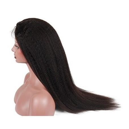 Frontal Lace Wig Human Hair kinky straight 20P