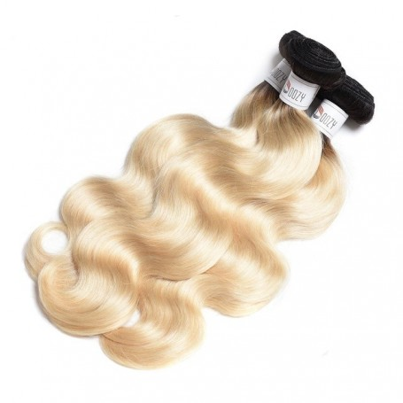 "2 Tissage Brésilien Kinky Straight et Closure Try Me 16"" ( 40 cm )"