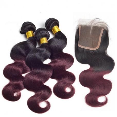 Tissage brésilien Ombré Hair Burg x3