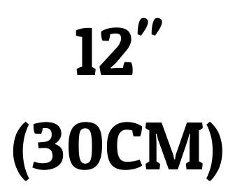 "12"" (30 cm)"