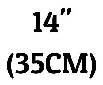 "14"" (35 cm)"