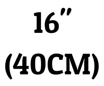 "16"" (40 cm)"