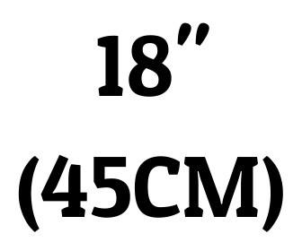 "18"" (45 cm)"