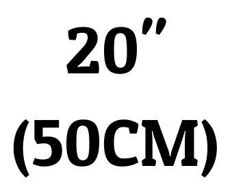 "20"" (50 cm)"