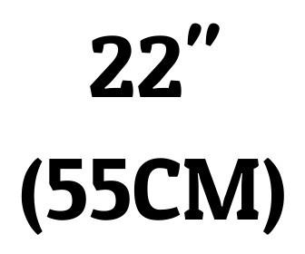 "22"" (55 cm)"