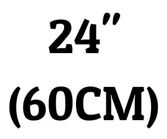 "24"" (60 cm)"