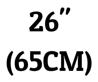 "26"" (65 cm)"