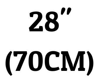 "28"" (70 cm)"