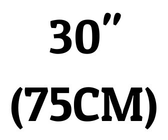 "30"" (75 cm)"